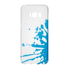 Blue Stain Spot Paint Samsung Galaxy S8 Hardshell Case  by Mariart