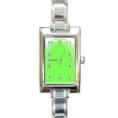 Bubble Polka Circle Green Rectangle Italian Charm Watch by Mariart