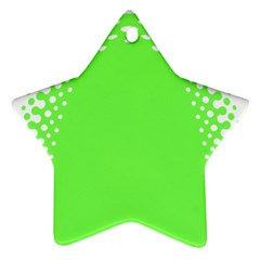Bubble Polka Circle Green Ornament (star) by Mariart