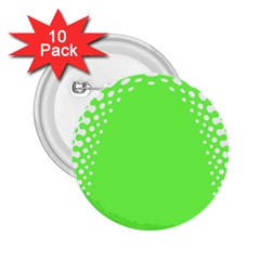 Bubble Polka Circle Green 2 25  Buttons (10 Pack)