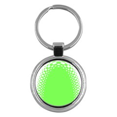 Bubble Polka Circle Green Key Chains (round)  by Mariart