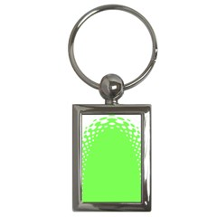 Bubble Polka Circle Green Key Chains (rectangle)  by Mariart