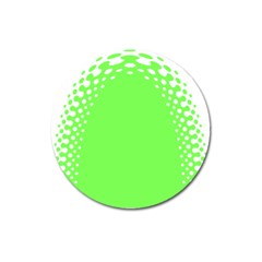 Bubble Polka Circle Green Magnet 3  (round) by Mariart
