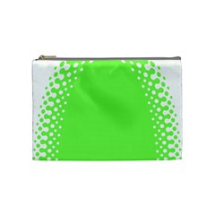 Bubble Polka Circle Green Cosmetic Bag (medium)  by Mariart