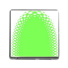 Bubble Polka Circle Green Memory Card Reader (square) by Mariart