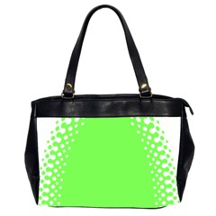 Bubble Polka Circle Green Office Handbags (2 Sides)  by Mariart