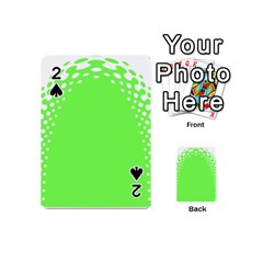 Bubble Polka Circle Green Playing Cards 54 (mini)  by Mariart