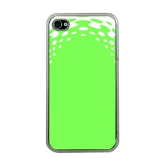 Bubble Polka Circle Green Apple Iphone 4 Case (clear) by Mariart