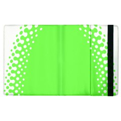 Bubble Polka Circle Green Apple Ipad 3/4 Flip Case by Mariart