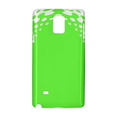 Bubble Polka Circle Green Samsung Galaxy Note 4 Hardshell Case by Mariart