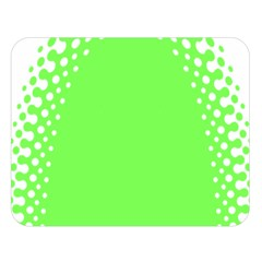 Bubble Polka Circle Green Double Sided Flano Blanket (large)  by Mariart