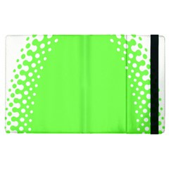 Bubble Polka Circle Green Apple Ipad Pro 12 9   Flip Case by Mariart