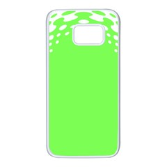 Bubble Polka Circle Green Samsung Galaxy S7 White Seamless Case by Mariart