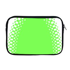 Bubble Polka Circle Green Apple Macbook Pro 17  Zipper Case by Mariart