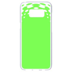 Bubble Polka Circle Green Samsung Galaxy S8 White Seamless Case by Mariart