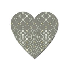 Circles Grey Polka Heart Magnet by Mariart