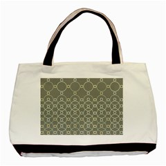 Circles Grey Polka Basic Tote Bag by Mariart