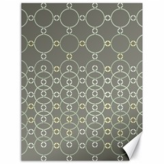 Circles Grey Polka Canvas 18  X 24   by Mariart