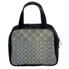 Circles Grey Polka Classic Handbags (2 Sides) by Mariart