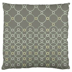 Circles Grey Polka Large Cushion Case (one Side) by Mariart