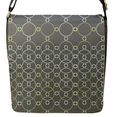Circles Grey Polka Flap Messenger Bag (s) by Mariart