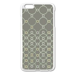 Circles Grey Polka Apple Iphone 6 Plus/6s Plus Enamel White Case by Mariart