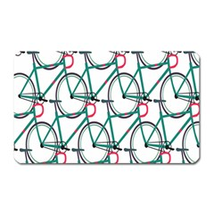 Bicycle Cycling Bike Green Sport Magnet (rectangular) by Mariart