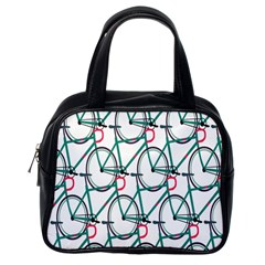 Bicycle Cycling Bike Green Sport Classic Handbags (one Side)