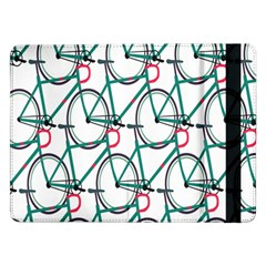 Bicycle Cycling Bike Green Sport Samsung Galaxy Tab Pro 12 2  Flip Case by Mariart