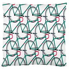 Bicycle Cycling Bike Green Sport Large Flano Cushion Case (one Side) by Mariart