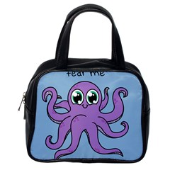 Colorful Cartoon Octopuses Pattern Fear Animals Sea Purple Classic Handbags (one Side)