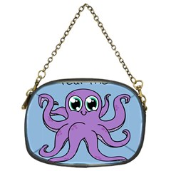 Colorful Cartoon Octopuses Pattern Fear Animals Sea Purple Chain Purses (one Side)  by Mariart