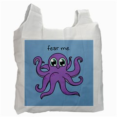Colorful Cartoon Octopuses Pattern Fear Animals Sea Purple Recycle Bag (one Side) by Mariart