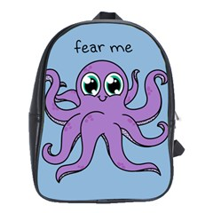 Colorful Cartoon Octopuses Pattern Fear Animals Sea Purple School Bags(large)
