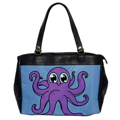Colorful Cartoon Octopuses Pattern Fear Animals Sea Purple Office Handbags by Mariart