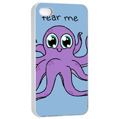 Colorful Cartoon Octopuses Pattern Fear Animals Sea Purple Apple Iphone 4/4s Seamless Case (white) by Mariart