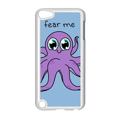 Colorful Cartoon Octopuses Pattern Fear Animals Sea Purple Apple Ipod Touch 5 Case (white) by Mariart