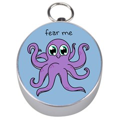 Colorful Cartoon Octopuses Pattern Fear Animals Sea Purple Silver Compasses by Mariart