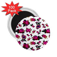 Crown Red Flower Floral Calm Rose Sunflower White 2 25  Magnets (100 Pack)  by Mariart