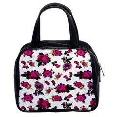 Crown Red Flower Floral Calm Rose Sunflower White Classic Handbags (2 Sides) by Mariart