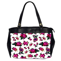 Crown Red Flower Floral Calm Rose Sunflower White Office Handbags (2 Sides)  by Mariart