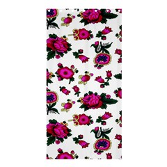 Crown Red Flower Floral Calm Rose Sunflower White Shower Curtain 36  X 72  (stall)  by Mariart