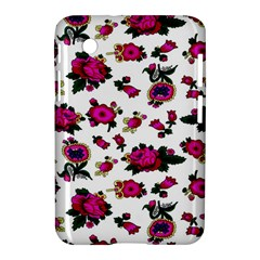 Crown Red Flower Floral Calm Rose Sunflower White Samsung Galaxy Tab 2 (7 ) P3100 Hardshell Case  by Mariart