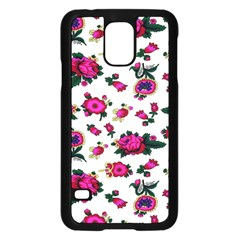 Crown Red Flower Floral Calm Rose Sunflower White Samsung Galaxy S5 Case (black) by Mariart