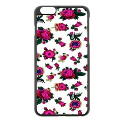 Crown Red Flower Floral Calm Rose Sunflower White Apple Iphone 6 Plus/6s Plus Black Enamel Case by Mariart