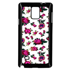 Crown Red Flower Floral Calm Rose Sunflower White Samsung Galaxy Note 4 Case (black) by Mariart