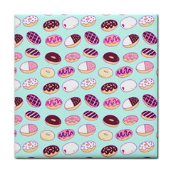 Donut Jelly Bread Sweet Tile Coasters by Mariart