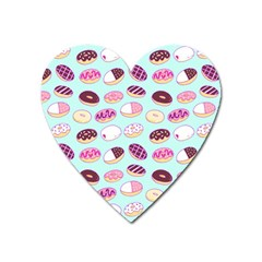 Donut Jelly Bread Sweet Heart Magnet by Mariart