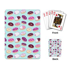 Donut Jelly Bread Sweet Playing Card by Mariart
