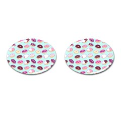 Donut Jelly Bread Sweet Cufflinks (oval)